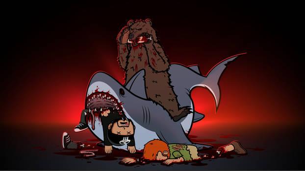 Shitstorm V Shark-Bear by 2snacks