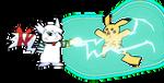Snowchu vs Pikachu by Animally