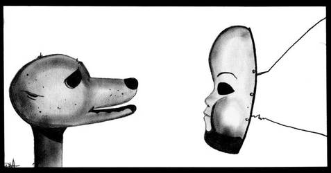 Mask and Dog by DouglasDarien