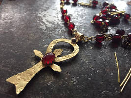 Cold-forged Camarilla Ankh by bluemont-vampire