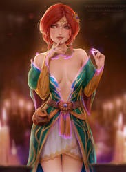 Triss Magic by Kittew