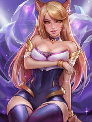 K/DA Ahri by Kittew