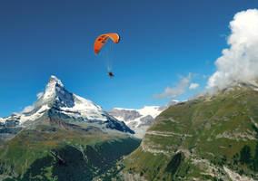 Over the skies of Zermatt by slimania