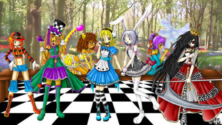 Alice in Wonderland- Tea Party by Tragic-Ballerina