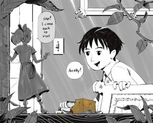 Arrietty Visiting by Ruffu