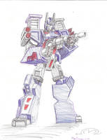 Ultra Magnus in Ballpoint Pen by MarOmega