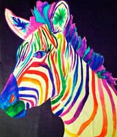 Rainbow Zebra by likesinkingships