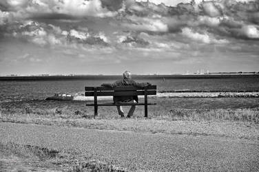 A Man, a Bench by DanNoland