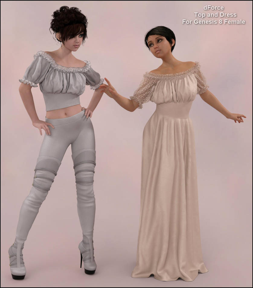 Dforce Wench Dress and Top for G8F by Art-by-Lully