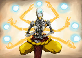 Overwatch: Mecha Ghandi by Caiman-Pool