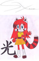 New oc: Light The Red Panda by Silverxtreme56