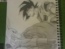 Goku vs Bills by superheroarts