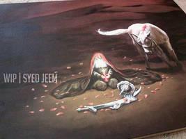 Ya Umm'e Rubab (s) - Oil Painting|Work in progress by SyedJeem