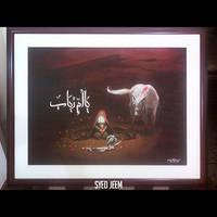 Ya Umm'e Rubab (s) - Oil Painting by SyedJeem