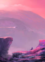 Pink Planet by Juhupainting