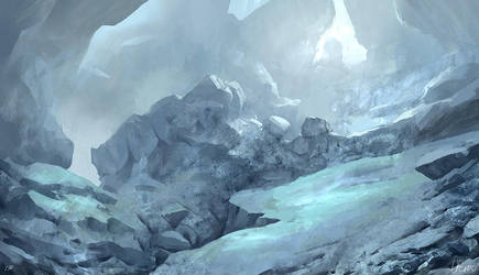 Ice Cave by Juhupainting