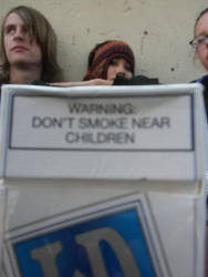 Dont smoke near children by JadeyLeigh