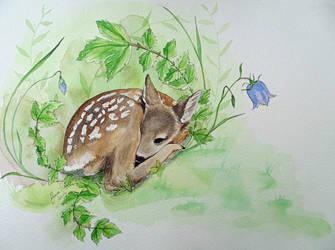 Roe deer fawn by makebelief
