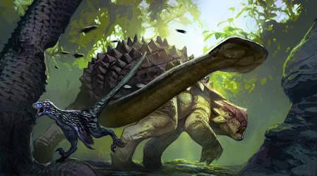 Ankylosaurus Surprise by Carlo-Arellano