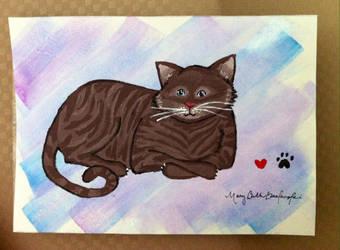 Grandma Cat by kwinny