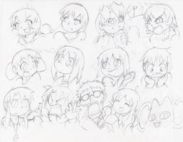 Wall of Cast Members by Geibuchan