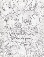 Super Azumanga Daioh poster concept by Geibuchan