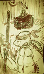 TMNT just a quick sketch for a friend by niC0ras
