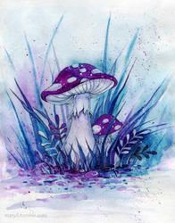 Purple mushrooms by MaryIL