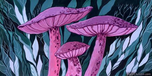 mushrooms 1. by MaryIL