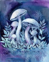 Space mushrooms by MaryIL