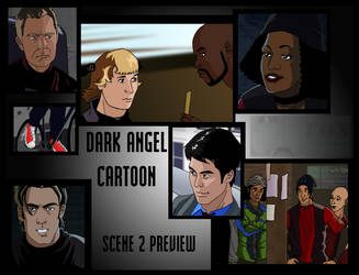 Dark Angel Cartoon, prieview 2 by deanfenechanimations