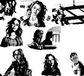 Dark Angel sketches 3 by deanfenechanimations