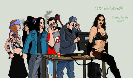 100th by deanfenechanimations
