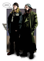 Jay and Silent Bob Chasing Amy by deanfenechanimations