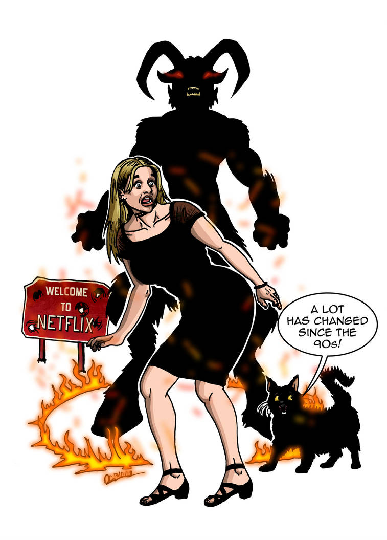 Sabrina the Teenge Witch goes on a chilling by deanfenechanimations