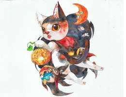 Halloween Cat by jengslizer