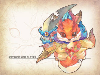Adoptable : KITSUNE ONI SLAYER by jengslizer