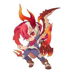 Demi Dragon Flame Dragon by jengslizer