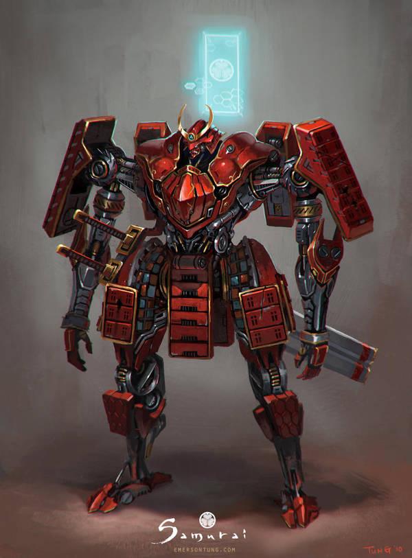 Samurai - Mechanical Samurai Tokugawa Unit by emersontung