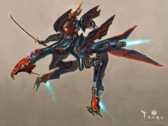 Samurai - Mechanical Tengu by emersontung