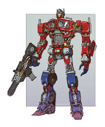 Transformers - Optimus Prime by emersontung