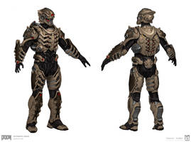 DOOM  - MP Robotic Armor Set by emersontung
