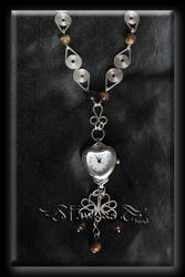 heart wire watch necklace by Fawkesgirl