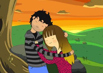 Amanda y yo by David-nator