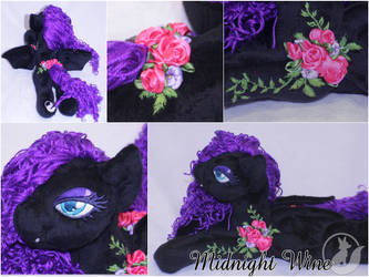 Midnight Wine - Large Bat Pony - Sold by LadyLittlefox