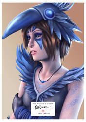 Chloe Bird - Deck Nine print version by Paularized