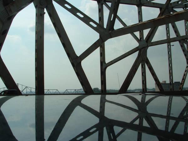 Ohio River Bridge Reflection by MrE88k