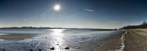 Pano Hamburg Sun over beach by Bull04