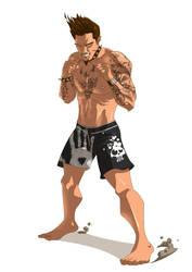 mixed martial arts fighter by BrianFajardo