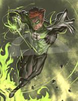 Green Lantern art commission by BrianFajardo